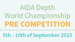 Aida Individual Depth World Championship pre- competition